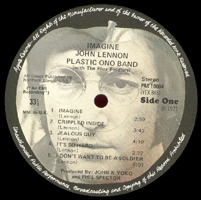 John Lennon Imagine original UK label