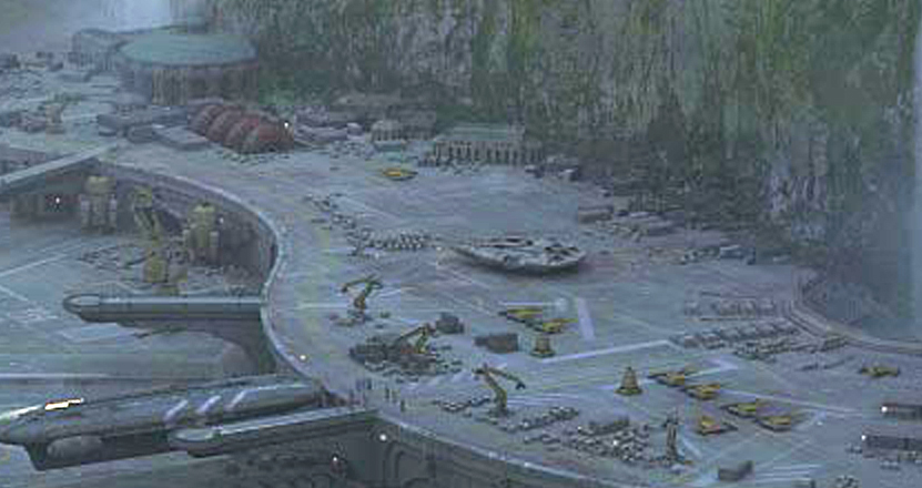 Falcon on Theed