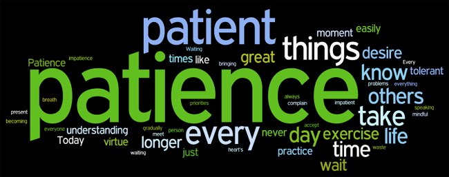 patience affirmations wordle
