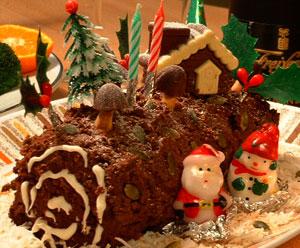 圣诞节木头形蛋糕的由来 Buche de Noel