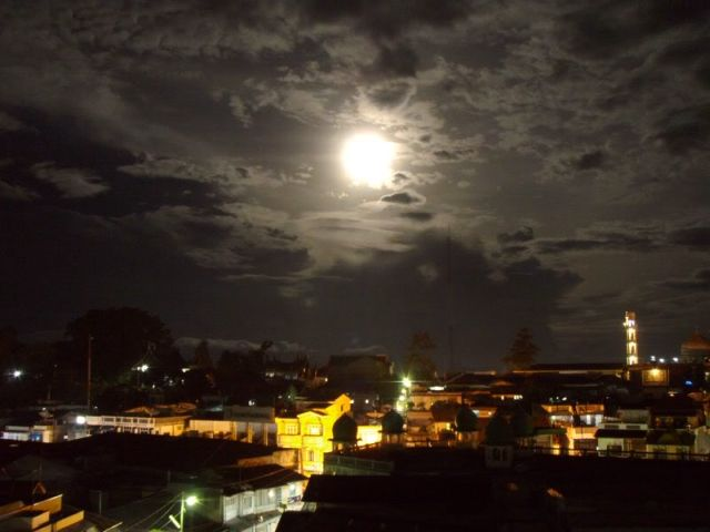 Full moon over Bukitinggi