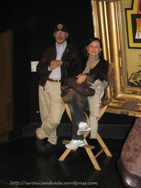 Com Spielberg no Madame Tussauds