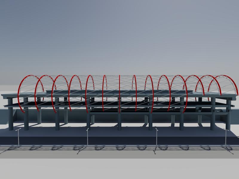 [作品]捷運站體實際案例-建模練習 008