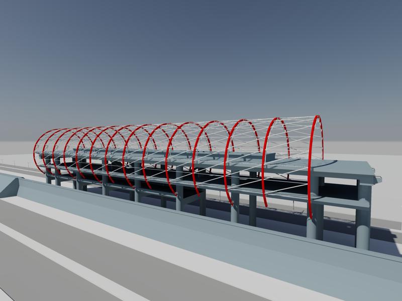 [作品]捷運站體實際案例-建模練習 010013