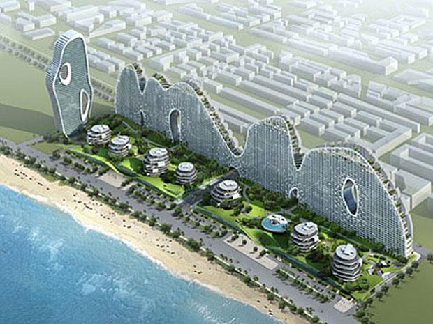 IMAGEM - Condomínio em forma de montanha na China