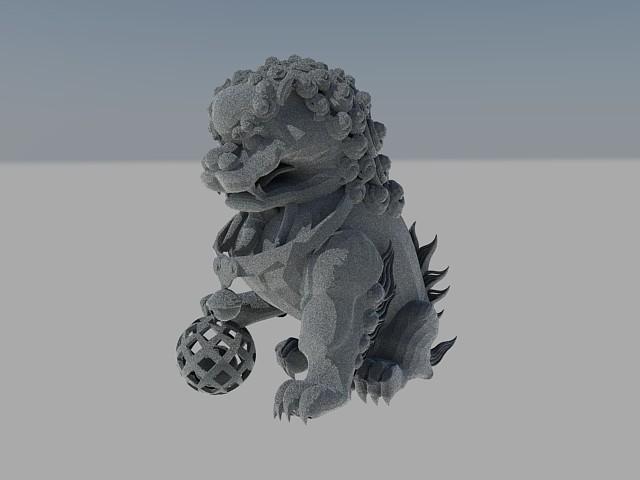 3D石獅子 012