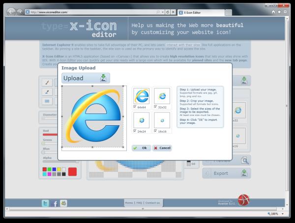 X-Icon Editor - Image Upload Dialog