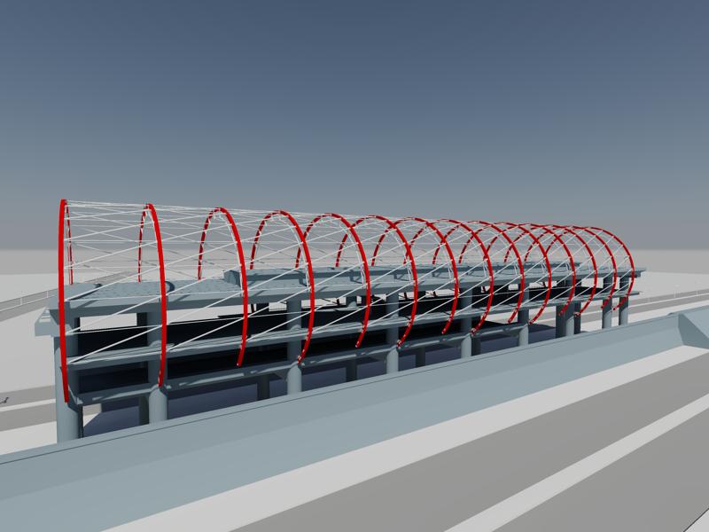 [作品]捷運站體實際案例-建模練習 009012