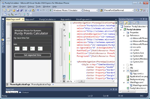 VS 2010 Express for Windows Phone CTP