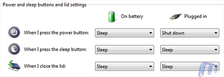 Change power Button behavior WIndows Vista