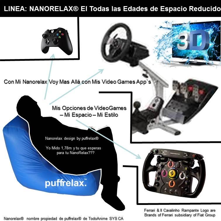 NanoRelax El Puffrelax Todas Las Edades de Espacio Reducido