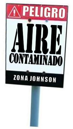 Imagen que representa al AIRE contaminado en Zona Johnson.